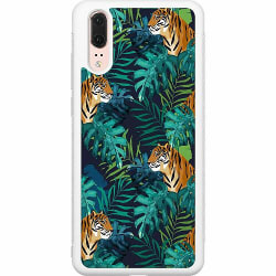Huawei P20 Soft Case (Vit) Tiger