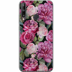 Huawei P40 Lite E Mjukt skal - Purple Florals