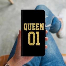 Apple iPhone X / XS Plånboksskal Queen 01 Black Gold