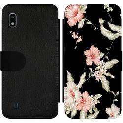 Samsung Galaxy A10 Wallet Slim Case Floral Pattern Black