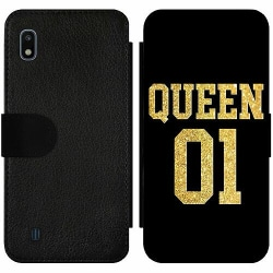 Samsung Galaxy A10 Wallet Slim Case Queen 01 Black Gold