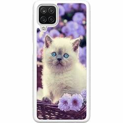 Samsung Galaxy A12 Soft Case (Vit) Cute Kitten