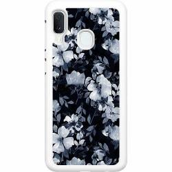 Samsung Galaxy A20e Hard Case (Vit) Blommor