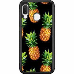 Samsung Galaxy A20e Soft Case (Svart) Ananas