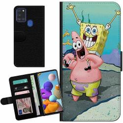 Samsung Galaxy A21s Billigt Fodral SpongeBob Fyrkant