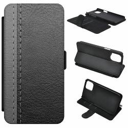 Huawei Y6 (2018) Mobilfodral Black & Grey Leather