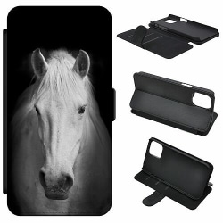 Apple iPhone 5 / 5s / SE Mobilfodral Vit Häst