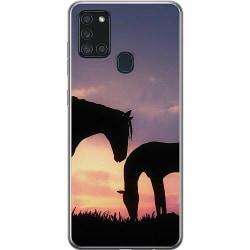 Samsung Galaxy A21s Mjukt skal - Häst / Horse