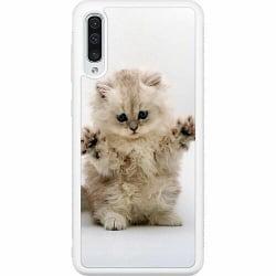 Samsung Galaxy A50 Soft Case (Vit) Katt