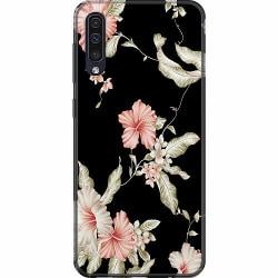 Samsung Galaxy A50 Mjukt skal - Floral Pattern Black