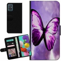 Samsung Galaxy A51 Billigt Fodral Fjäril
