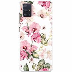 Samsung Galaxy A51 Hard Case (Vit) Blommor