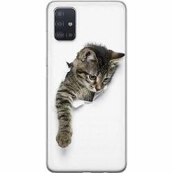 Samsung Galaxy A51 Thin Case Curious Kitten