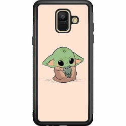 Samsung Galaxy A6 (2018) Soft Case (Svart) Kawaii