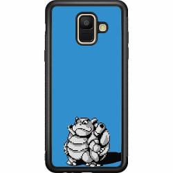 Samsung Galaxy A6 (2018) Soft Case (Svart) Pixel art Pokémon