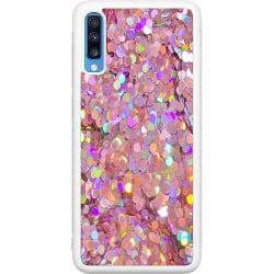 Samsung Galaxy A70 Soft Case (Vit) Glitter