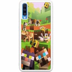 Samsung Galaxy A70 Soft Case (Vit) MineCraft