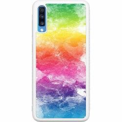 Samsung Galaxy A70 Soft Case (Vit) Watercolor Fade
