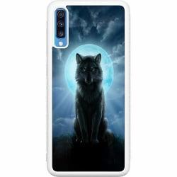 Samsung Galaxy A70 Soft Case (Vit) Wolf in the Dark
