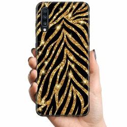 Samsung Galaxy A70 TPU Mobilskal Gold & Glitter