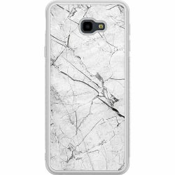Samsung Galaxy J4 Plus (2018) Soft Case (Frostad) Marmor Vit