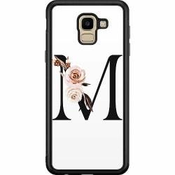 Samsung Galaxy J6 (2018) Soft Case (Svart) Bokstäver
