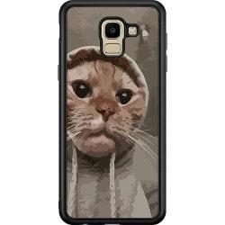 Samsung Galaxy J6 (2018) Soft Case (Svart) Cat Called