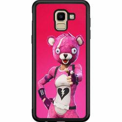 Samsung Galaxy J6 (2018) Soft Case (Svart) Fortnite Pink Bear