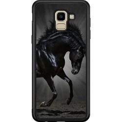 Samsung Galaxy J6 (2018) Soft Case (Svart) Häst / Horse