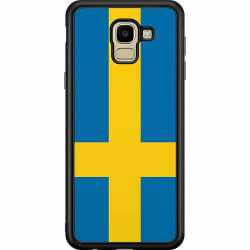 Samsung Galaxy J6 (2018) Soft Case (Svart) Heja Sverige / Sweden