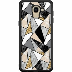 Samsung Galaxy J6 (2018) Soft Case (Svart) Marble Print