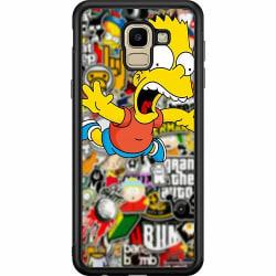 Samsung Galaxy J6 (2018) Soft Case (Svart) Stickers