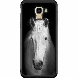 Samsung Galaxy J6 (2018) Soft Case (Svart) Vit Häst