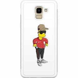 Samsung Galaxy J6 (2018) Soft Case (Vit) Bart Simpsons SUP