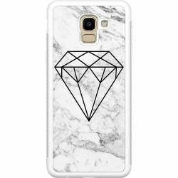 Samsung Galaxy J6 (2018) Soft Case (Vit) Marmor Diamant