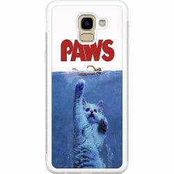 Samsung Galaxy J6 (2018) Soft Case (Vit) Paws