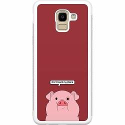 Samsung Galaxy J6 (2018) Soft Case (Vit) Touch My Phone