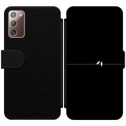 Samsung Galaxy Note 20 Wallet Slim Case Minimalist Birds Black