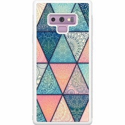 Samsung Galaxy Note 9 Soft Case (Vit) Mandala triangles