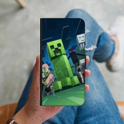 Samsung Galaxy A21s Plånboksskal MineCraft
