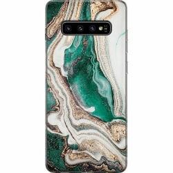 Samsung Galaxy S10 Plus Mjukt skal - Grön