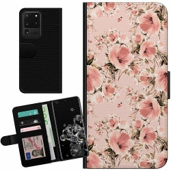 Samsung Galaxy S20 Ultra Billigt Fodral Blommor