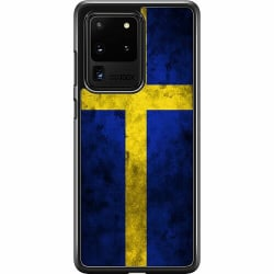 Samsung Galaxy S20 Ultra Hard Case (Svart) Sverige Flagga