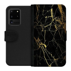 Samsung Galaxy S20 Ultra Wallet Case Marble Black&Gold