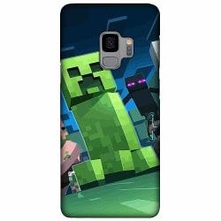 Samsung Galaxy S9 LUX Mobilskal (Matt) MineCraft