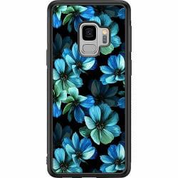 Samsung Galaxy S9 Soft Case (Svart) Blommor