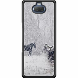 Sony Xperia 10 Hard Case (Svart) Häst / Horse