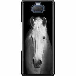 Sony Xperia 10 Hard Case (Svart) Vit Häst