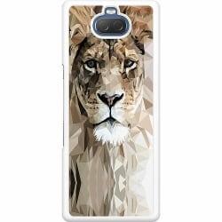 Sony Xperia 10 Hard Case (Vit) Abstract Lion