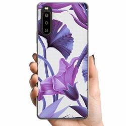 Sony Xperia 10 II TPU Mobilskal Lilac Bloom